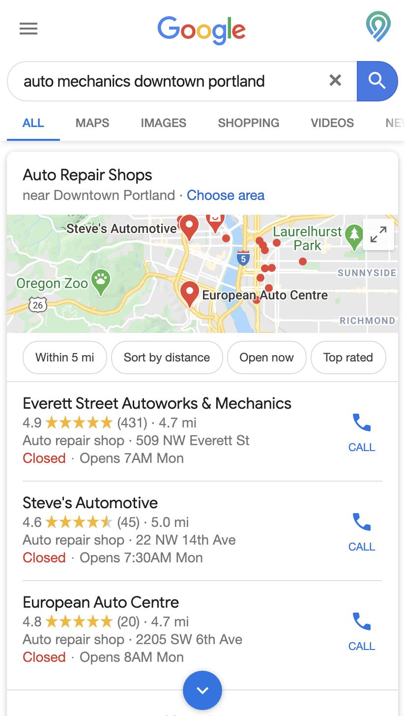 auto repair shop tire marketing local best