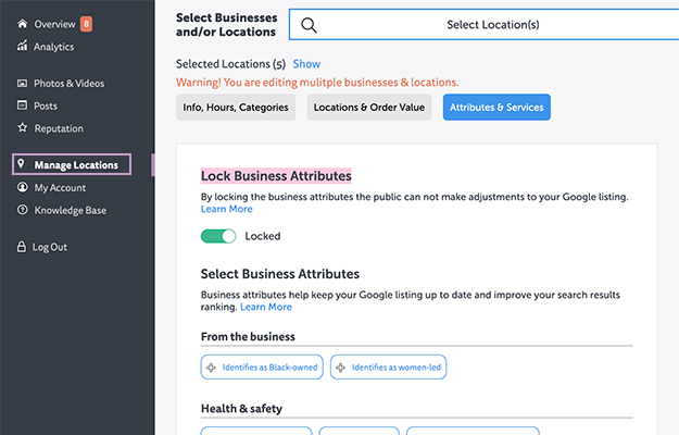 Lock Business attributes with LOCL_Screenshot   Setting GMB Attributes Has Never Been So Easy With Locl